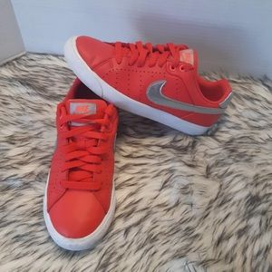 Nike Court Leather Red Sneakers Size 7